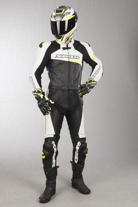 Kombinezon Skórzany Spidi Race Warrior Touring Niebiesko-Żółty