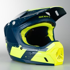 Kask Cross Scott 350 EVO Plus Team ECE Niebiesko-Żółty