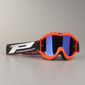 Motokrosové Brýle Dětský Model Progrip 3101 Oranžová Flou Dvojité Čočky