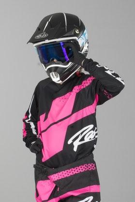 Bluza Cross JT Racing Flex Hi-Lo Dziecięca Czarno-Różowa