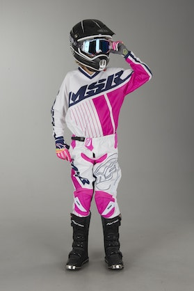 MSR M17 AXXIS Child's Cross-Clothing White-Blue-Pink