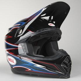 Bell Moto-9 Airtrix Helmet Shards Black-Blue