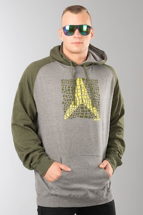 Alias Scaled Gunmetal Heather Hoodie Army