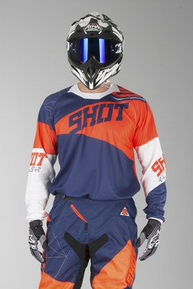 Shot Contact Infinite MX-Jersey Blue-Neon Orange
