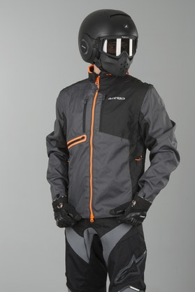 Acerbis One Enduro Jacket Black-Orange