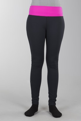 FXR Diem Active Leggings Black-Fuchsia