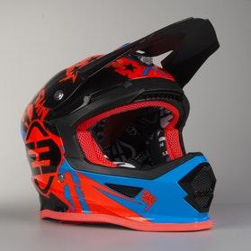 Motokrosová HelmaDětský Model Freegun XP-4 Nerve Neonová Oranžová-Modrá