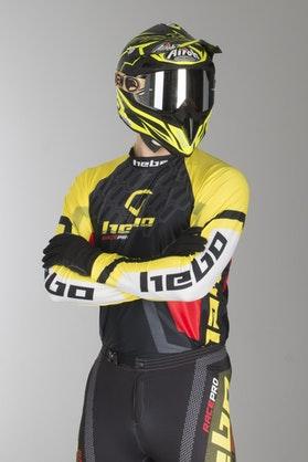 Bluza Trial Hebo Trial Race Pro II Żółta