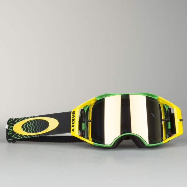 Oakley Airbrake Mx >> Oakley Airbrake Mx Goggles Shockwave Green Yellow