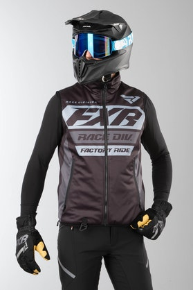 Vest FXR RR Insulated Black Ops, Sort