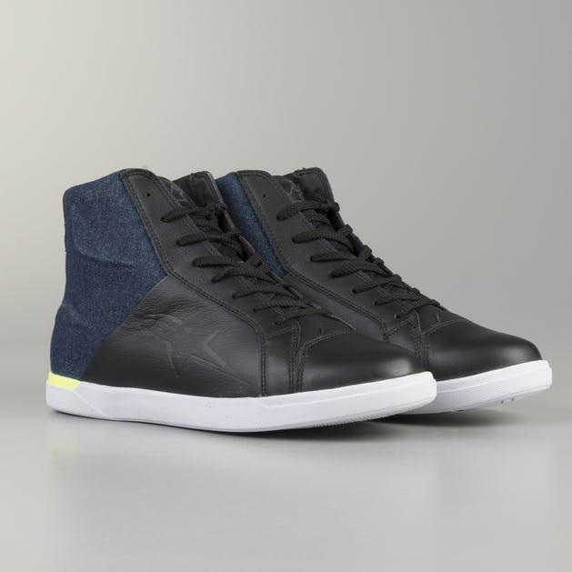 Alpinestars Jam Drystar MC-Shoes - Black-Flourescent Yellow