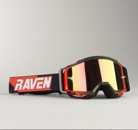Raven Sniper Crimson Echo MX Goggles Red Mirror