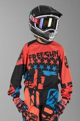 Bluza Cross Freegun Nerve Dziecięca Neonowo Pomarańczowo-Niebieska