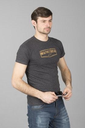 T-Shirt Alpinestars Emblematic Węgiel Drzewny-Wrzos