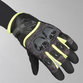 IXS Tour LT Montevideo Air Gloves Black-Grey-Yellow