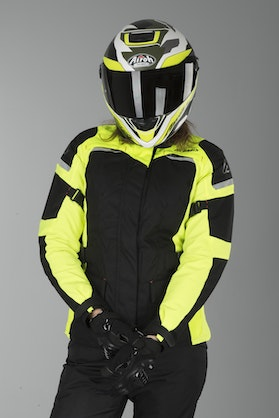 Acerbis Glen Women's Jacket Black-Yellow