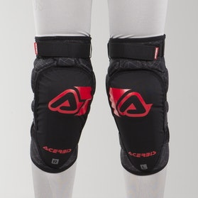 Acerbis X-Soft Kid's Knee Guards Black-Red