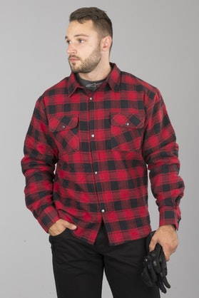 Course Aramid Reinforced Flannel Shirt Black-Red