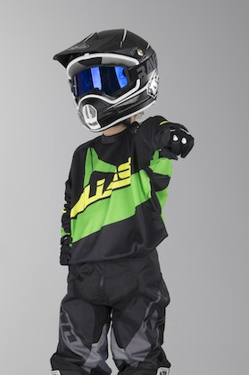 Alias A2 Bars Youth Motocross Jersey Yellow-Neon Green