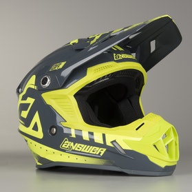 Kask cross Answer AR1 Acid-Szary