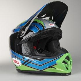 Bell Moto-9 Airtrix Helmet Stance Black-Blue