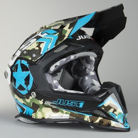 Kask cross Just1 J12 Kombat Niebieski