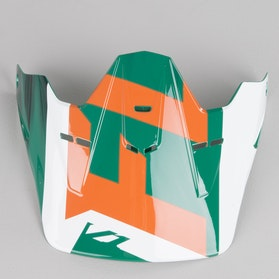 Fox V1 Vandal Youth Helmet Peak Green-Orange-White