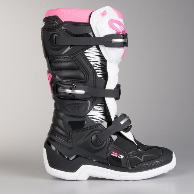 Alpinestars Ladies Tech 3 Boots Black-White-Pink