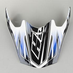 Kšilt helmy HJC RPHA X Černá-Modrá Stříbrnábolt MC2