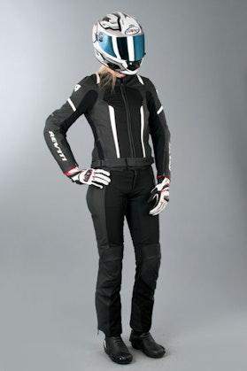 Komplet skórzany Revit Galactic Gear 2 czarno-biały damski
