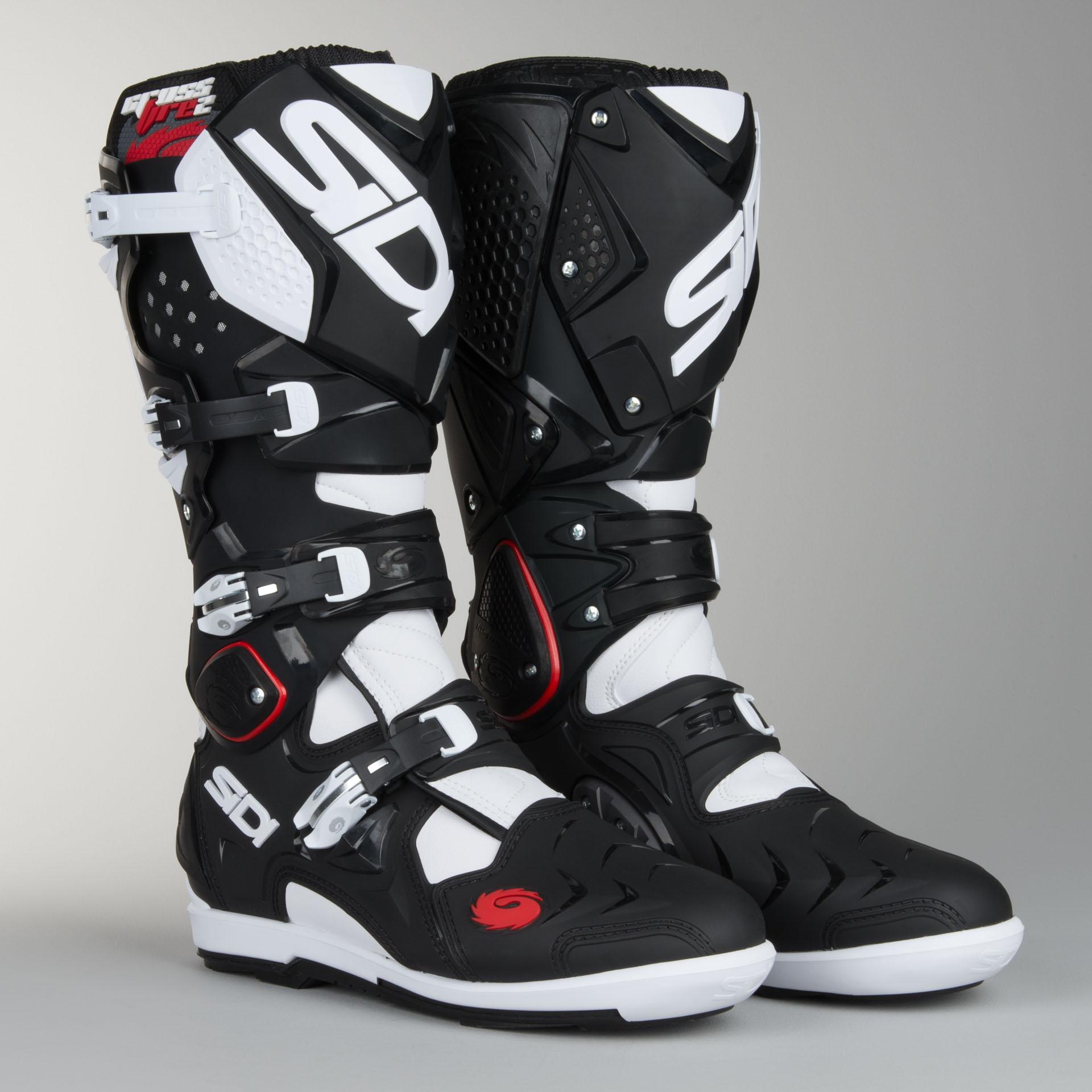 Sidi Crossfire 2 SRS Motocross Boots Black White