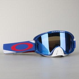 Crossové Brýle Oakley O2 MX Heritage Racer Červená-Bílá-Modrá
