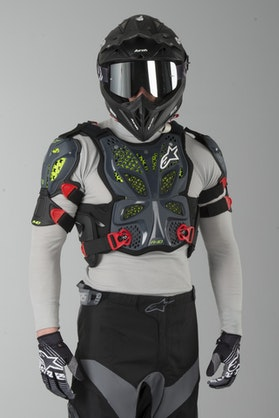 Alpinestars A-10 Chest Protector Anthracite-Black-Red