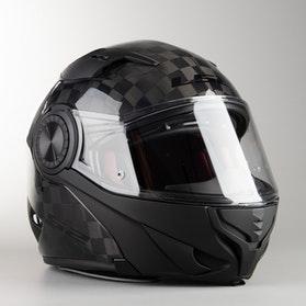 LS2 FF313 Vortex Flip-Up Helmet Glossy Carbon