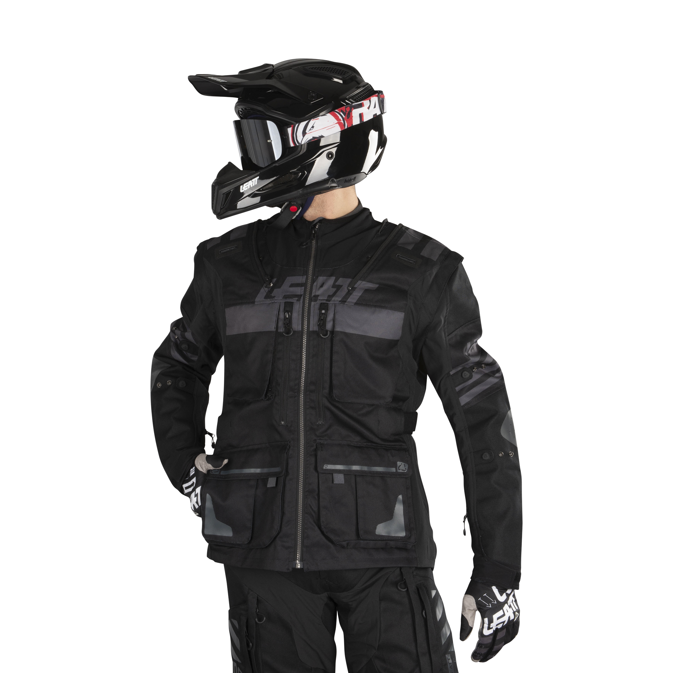 Leatt GPX 5.5 Enduro Riding Jacket-Black-3XL
