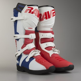 Raven Combat MX Boots White-Red-Blue