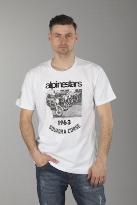 T-Shirt Alpinestars Crew Biały