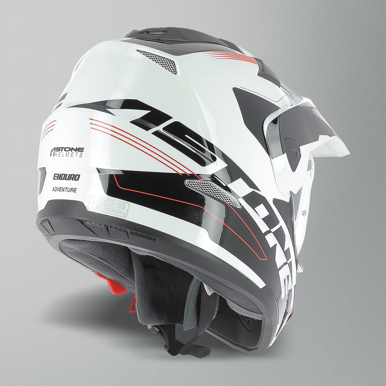 CROSS TOURER GRAPHIC ADVENTURE Astone Helmets Matt grey//black Casque int/égral polyvalent 3 en 1 enduro route et trail Casque de motocross homologu/é en polycarbonate