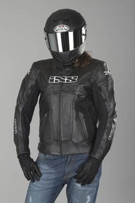 IXS Hype Black Leather Jacket