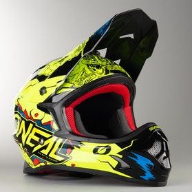 O'Neal 3 Series Villain MX Helmet Neon-Yellow