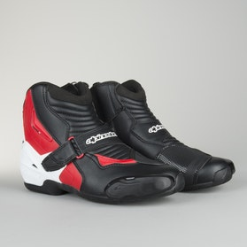 Alpinestars SMX-1 R Moto Boots Black-White-Red