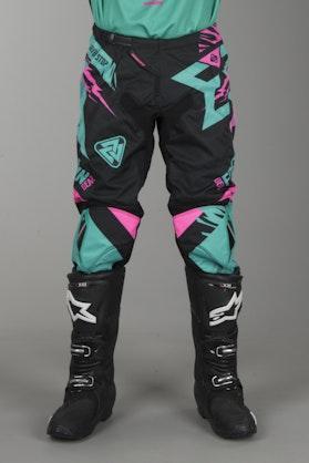 Crossové kalhoty Freegun Trooper Mentolová-Růžová