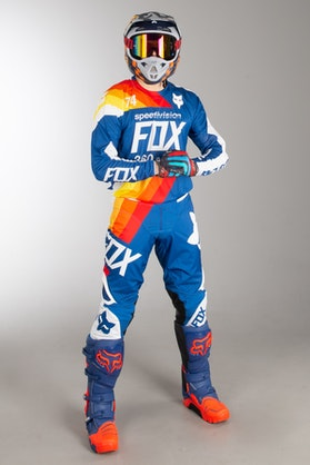 Fox 360 Draftr MX Clothes Blue MX 18