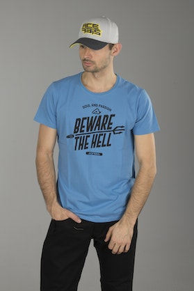 Acerbis Beware The Hell T-Shirt Royal Blue