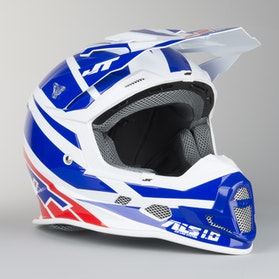 JT Racing ALS 1.0 Remix Motocross Helmet Blue-White-Red