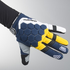 On Board Mx-3 Gloves Blue-Yellow-White