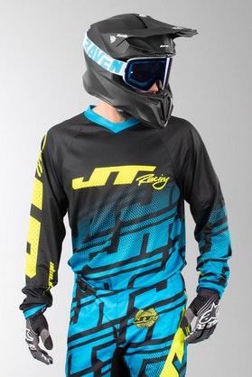 Bluza Cross JT Racing Prime Echo Czarno-Cyjanowa