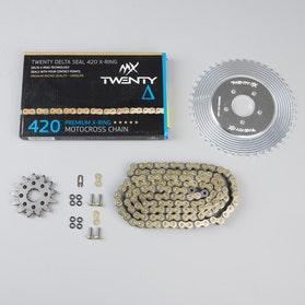 Twenty Lightweight & Delta 420 MX  Chain & Sprocket Set