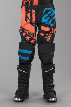 Freegun Nerve Youth Cross-Trousers Neon Orange-Blue