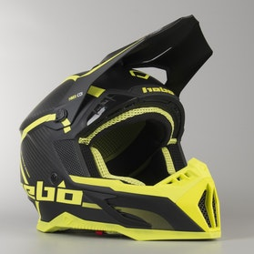 Kask Hebo Enduro Legend Carbon Żółty